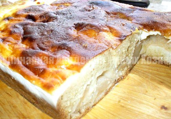 Пирог с яблоками на кефире рецепт с фото пошагово в духовке