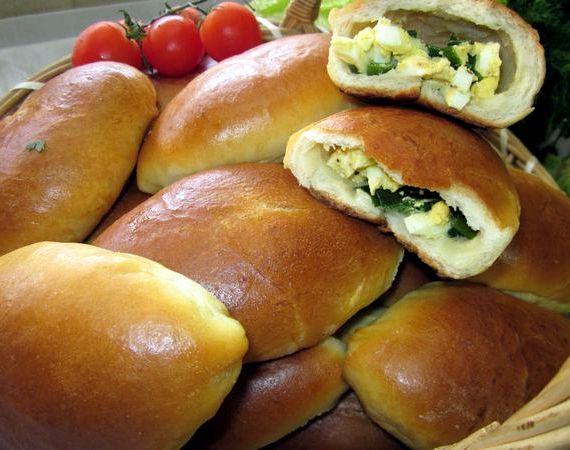 Пирог с яйцом и зеленым луком рецепт с фото в духовке