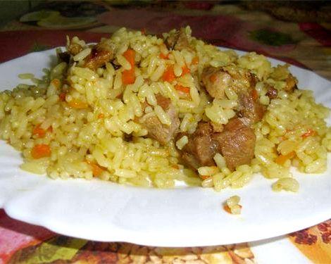 Плов из свинины в кастрюле рецепт с фото красивое блюдо, которое