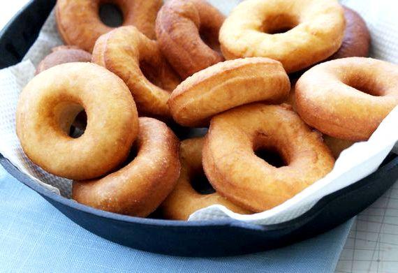 Пончики из творога жареные в масле рецепт с фото