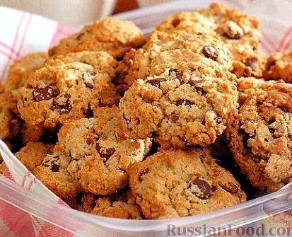 Простой рецепт овсяного печенья из овсяных хлопьев Затем по очереди подмешивать остальные