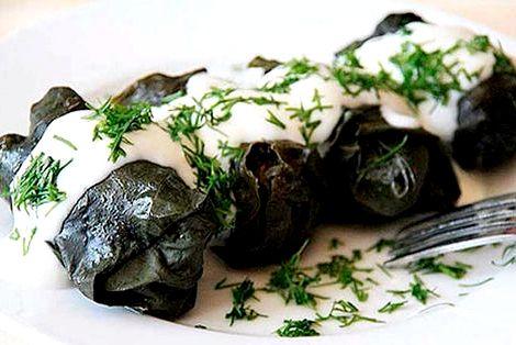 Рецепт долмы из виноградных листьев по армянски рис, если его