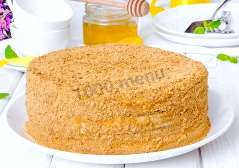 Рецепт медовика со сметанным кремом мм, прикладываем крышку кастрюли или
