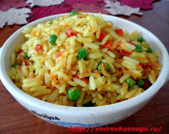 Рецепт с фото рис с овощами