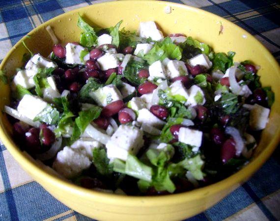 Рецепт салата с красной фасолью консервированной