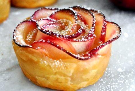 Розочки из слоеного теста с яблоками пошаговый рецепт с фото Для приготовления вкусных лакомств понадобится