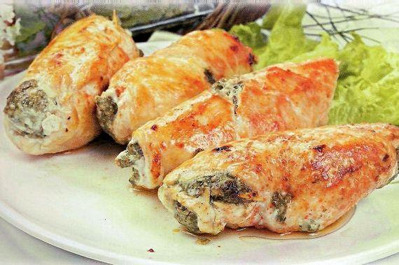 рецепт куриных рулетиков с грибами и сыром в мультиварке