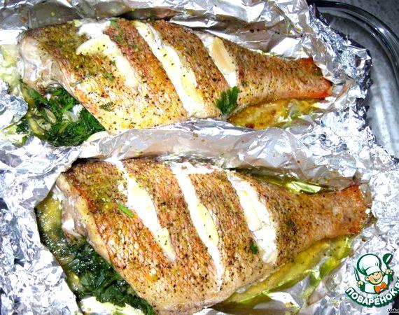 Рыба запеченная в духовке в фольге рецепт