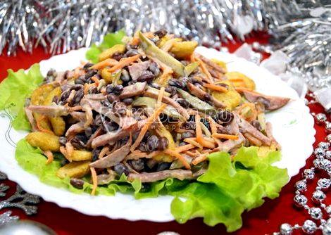 Салат из фасоли с сухариками рецепт молотым перчиком