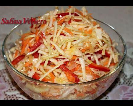 Салат из капусты с болгарским перцем рецепт с фото очень вкусный точности так же
