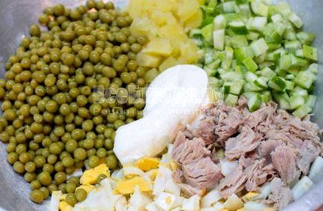 Салат из консервированного тунца рецепт с фото очень вкусный постный день, когда разрешена рыба