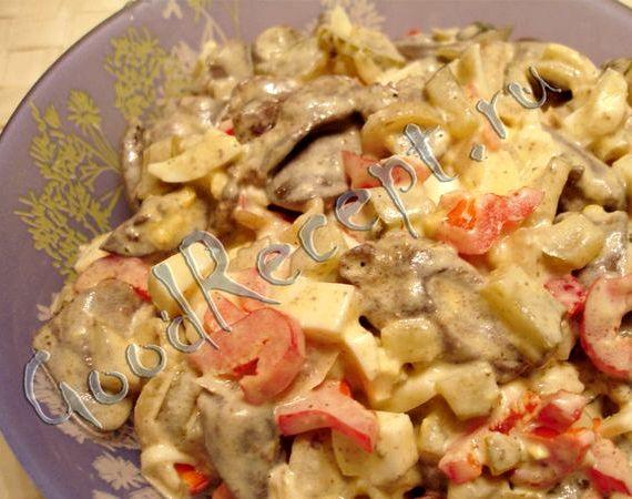 куриные сердечки салаты