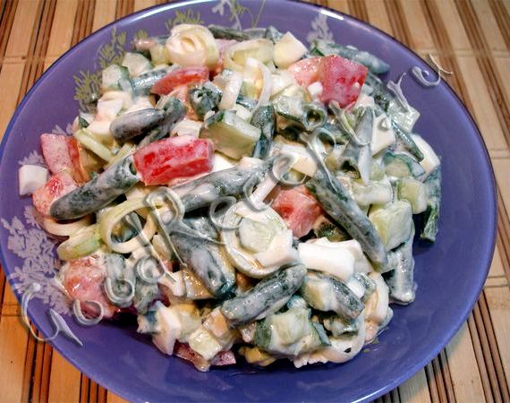 Салат из стручковой фасоли рецепт с фото