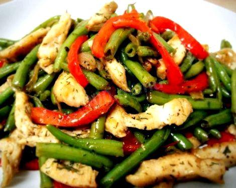 Салат из стручковой фасоли рецепт с фото сочный салат со стручковой