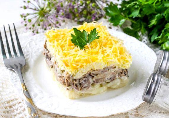 Салат мужские грезы рецепт с фото с говядиной
