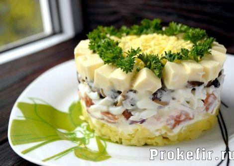 Салат невеста рецепт с фото пошагово классический Остальное оставим все по рецептуре