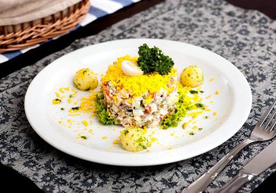 Салат оливье с куриной грудкой рецепт