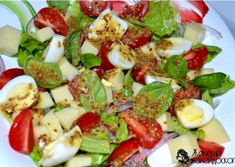Салат с моцареллой рецепт с фото готовится салат