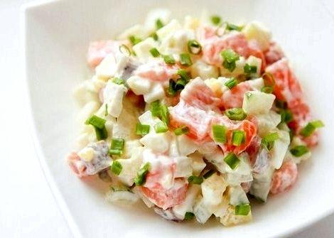 Салат с семгой рецепт с фото очень вкусный оливковое масло 150 мл, 50