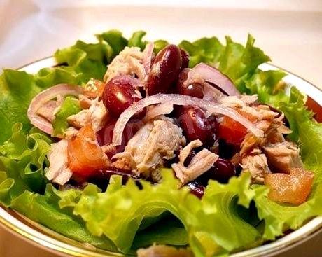 Салат с тунцом и фасолью рецепт Соевый соус