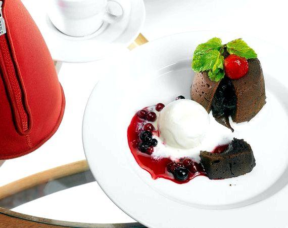 Шоколадные маффины с жидкой начинкой рецепт
