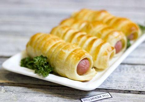 Сосиски в тесте в духовке рецепт пошагово с фото длину сосиски