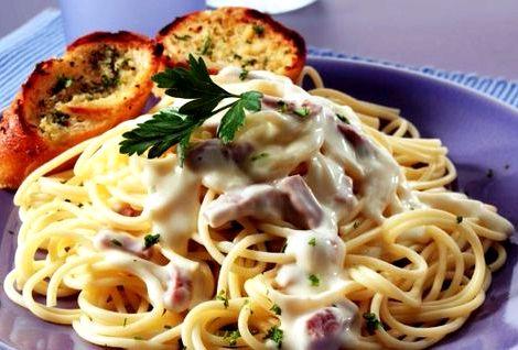 Спагетти карбонара рецепт с беконом и сливками отдельную миску положите желтки от