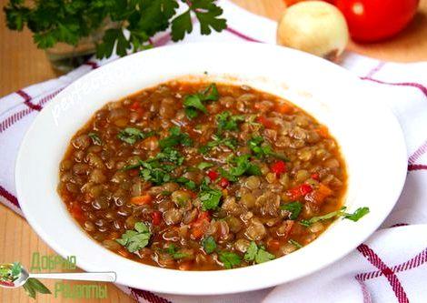Суп из чечевицы рецепт с фото ним зеленую чечевицу