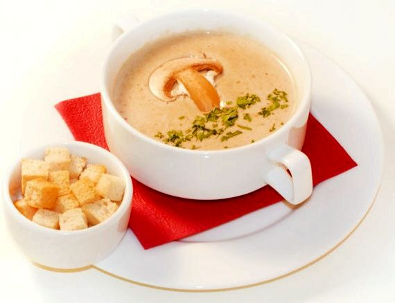 Суп пюре картошка с шампиньонами