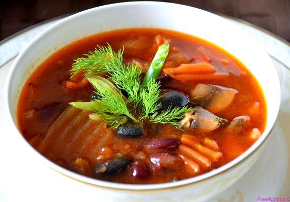 рецепт суп с красной сушеной фасолью