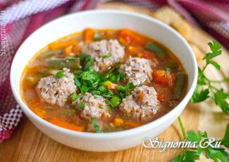 Суп с фрикадельками и рисом рецепт Вскипятить воду, чуть