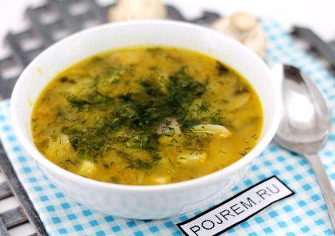 Суп с шампиньонами и картофелем рецепт суп добавляют свежую порубленную зелень
