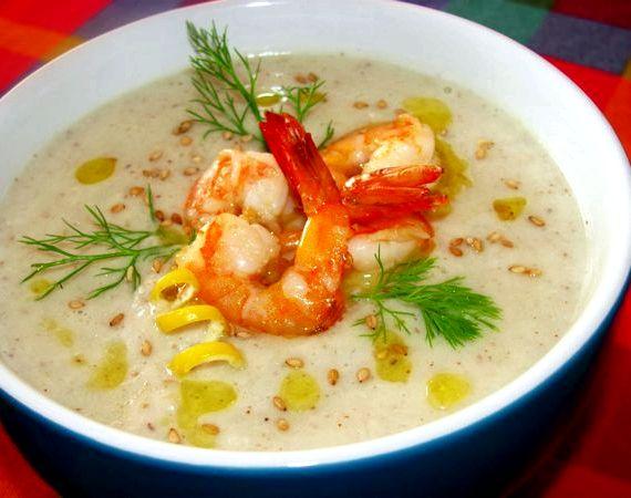 Сырный суп с креветками рецепт