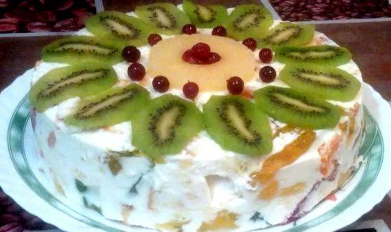 Торт битое стекло со сметаной рецепт