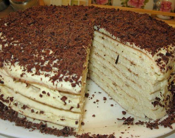 Торт на сковороде со сгущенкой рецепт с фото пошагово в домашних условиях