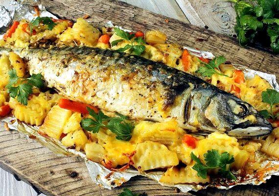 рыба в духовке в фальге рецепт