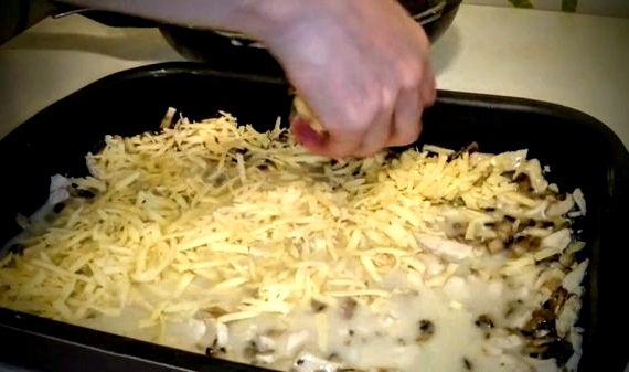 Жульен с грибами и курицей рецепт с фото в духовке