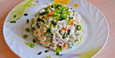 Зимний салат со свежим огурцом рецепт Салат из свежих
